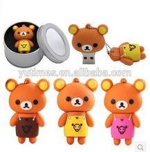 Free sample low price wholesale cartoon animal shape usb flash drive