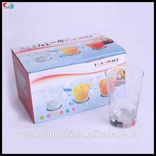 6pcs Rock Glass Juice Cup Dinnerware Set For Customer Printing Glassware