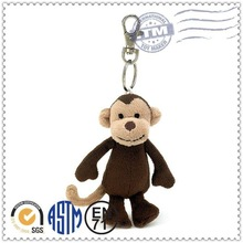 Factory direct sale lovely hot selling plush nice soft toy keychain monkey