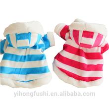 Red stripe hiver, vêtements pour chiens, chien de vêtements vêtements blue stripe, vêtements pour animaux de compagnie pour le lapin