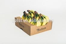 Plantation cardboard fruit packaging box for banana and apple/la banano y manzana caja