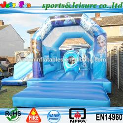 EN14960 new design inflatable frozen castle,backyard inflatable castle slide for kids,inflatable bouncer frozen