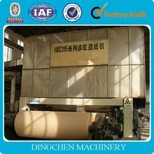 2100mm fourdrinier muti-cylinder mould and multi-dryer can kraft paper manufacturing plant,test liner paper making machine