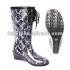High heel lady rubber high heel rain boot