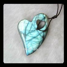 Labradorite Heart-shaped Pendant