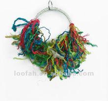cotton rope bird perching