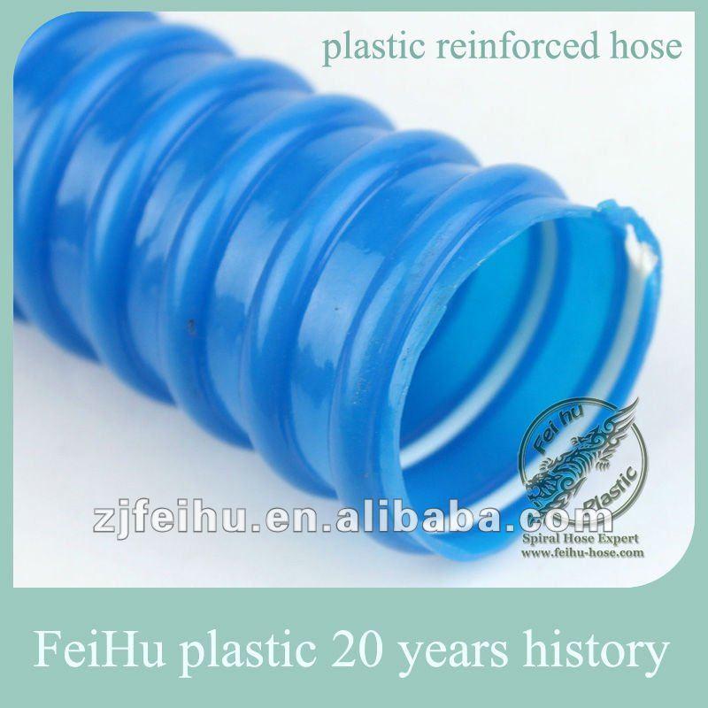 Azul plástico reforzado tubería de pvc