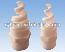 Teflon(F4) /Ceramic desulfurization cooling tower spiral cone/flat fan spray nozzle