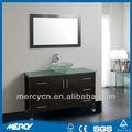 modern carvalho gabinete chão do banheiro bacia de vidro do banheiro moderno carvalho armário de assoalho