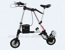 8 Inch Small Folding Electric Bicycles 250w 24v A Bike Lithium