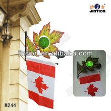 Maple Leaf Metal Art Wall Light With Flag/ solar metal light / metal solar light