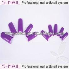 new design color nail tip/nail art designs/color acrylic nail