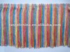 Rainbow Colored Rayon Chainette Fringe For Dance Dresses