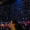 led star cloth/led star curtain/ led starry sky light/Stage Background Curtain