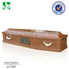 Wholesale chinese cheap solid wooden coffin