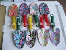 floral print garden tools