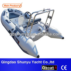 CE certificate and fiberglass hull Q boat inflatable boat