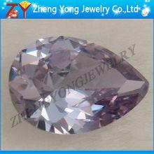 Cubic zirconia stone,pear shape cz,lavender zircon
