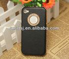 ON PROMOTION ! Bling crystal rhinestone decoration brushed aluminum hard back cover case for iphone4s