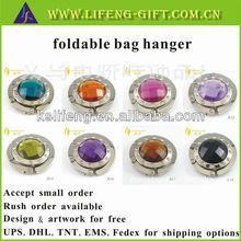 Custom made popular foldable bag hanger ladies gift items