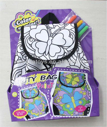 Ningbo Sunrise/ICTI factory/2014 hottest toy/ drawing diy bag for kids / DIY Bag Toy