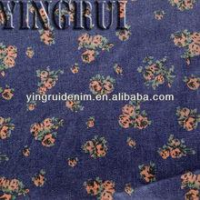 ERP-101 ctn rayon sp rose discharge print denim fabric