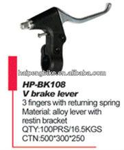 v brake lever & 3 fingers with returning spring & alloy lever with restin bracket