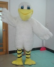 furry white bird macot costume adult Pelican costume