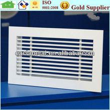 Prefabricated decorative return aluminum linear air grille