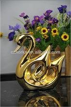 chaozhou fábrica de oro y plata de cerámica swan artesanías