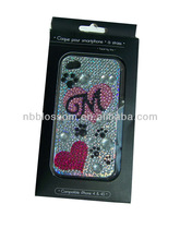 Fashion and beauty Mobile Phone Crystal Sticker/Cell Phone Jewelry for phone, MP4,notebook, books, etc