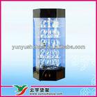 Hexagonal revolving acrylic display case with light