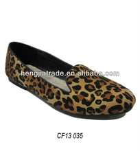 Ladies fashion leopard loafer shoe