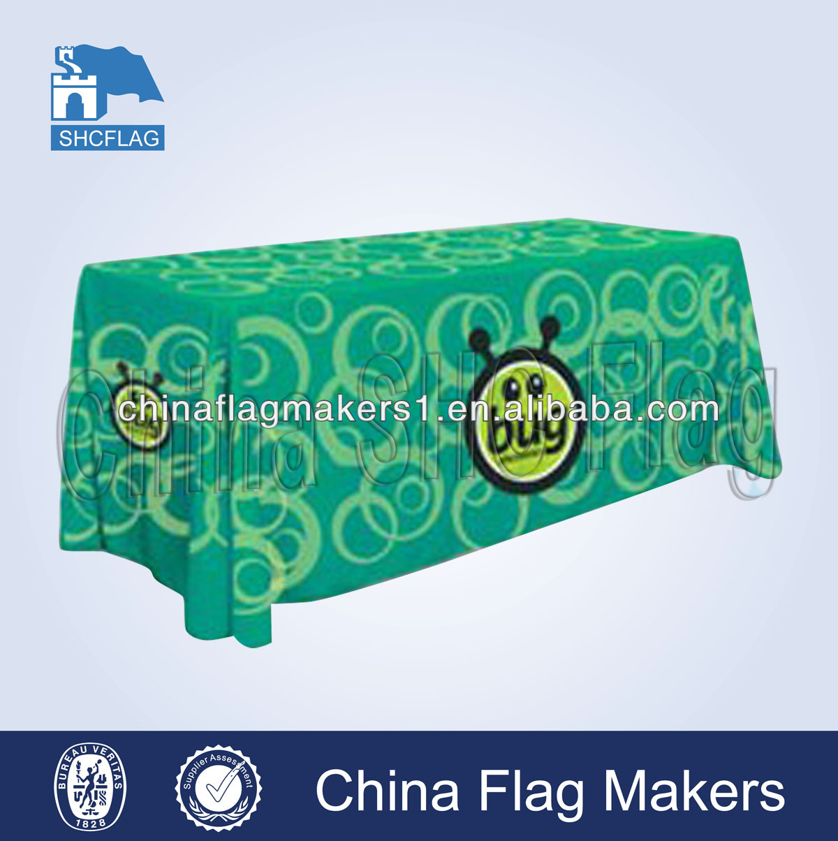 300D polyester custom logo printed table covers