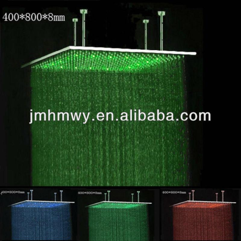 304 ss bathroom accessory 400*800mm romantic light led top shower head