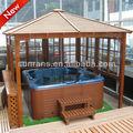 top venta de chino de madera de jardín tina de agua caliente al aire libre mirador