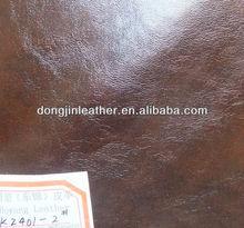 Fashionable Crazy horse PU leather for peva bag women handbag, luggage belt
