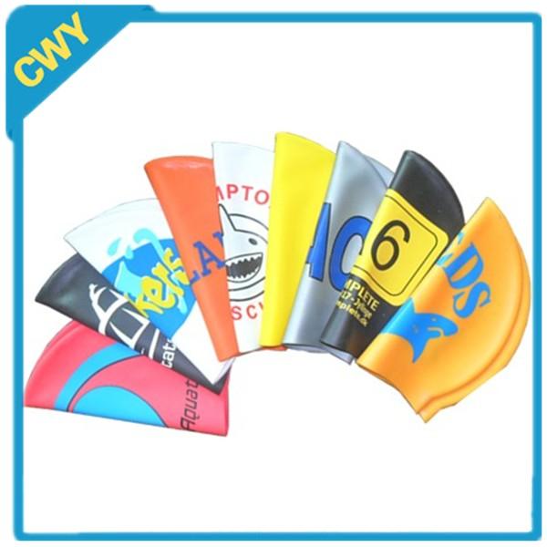 Custom logo adult kid size silicone swim Cap