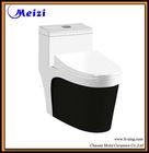 One piece siphonic ceramic vacuum flush toilets