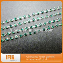 2014 Crystal rhinestone chains trimming for wedding dress,rhinestone metal cup chains