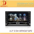 Preço barato 2 carro din dvd com 6.2 polegadas tela hd, usb, sd, bluetooth, tv, rádio