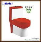 Red color one piece bathroom toilet ware