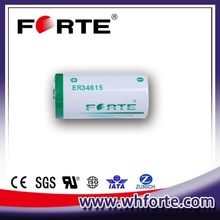 3.6V ER34615 lithium primary battery with high capacity 19Ah