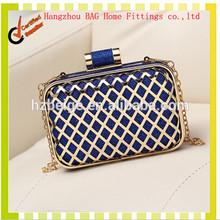 Alibaba china new product online shopping women's bag , fashion handbag , clutch bag metal frame