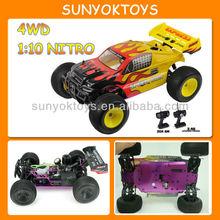 1/10 Nitro rc carro ; 4wd Gas Powered controle remoto carros de corrida ; HQ723