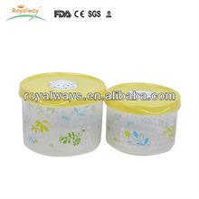 kitchen plastic round food container/storage box