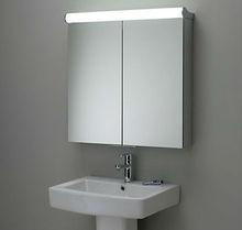 Wall mirrored illuminated bathroom cabinets