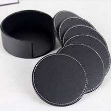 Promotion Heat Resistant Square Genuine Leather Suction Cup Mat