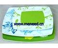 Cuadrados placa de la melamina, placa de melamina plato, vajilla de melamina