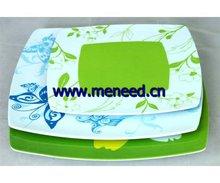 square melamine plate,melamine plate dish,melamine tableware